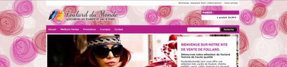Tous les foulards du monde disponible sur un site.